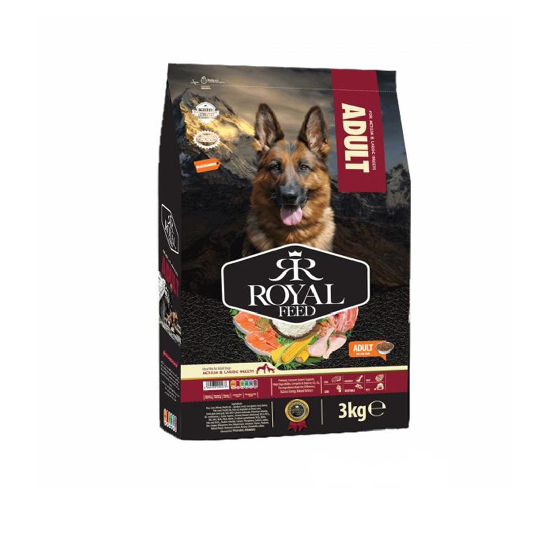 غذای خشک سگ نژاد متوسط و بزرگ بالغ رویال فید مدل 3 کیلوگرمی