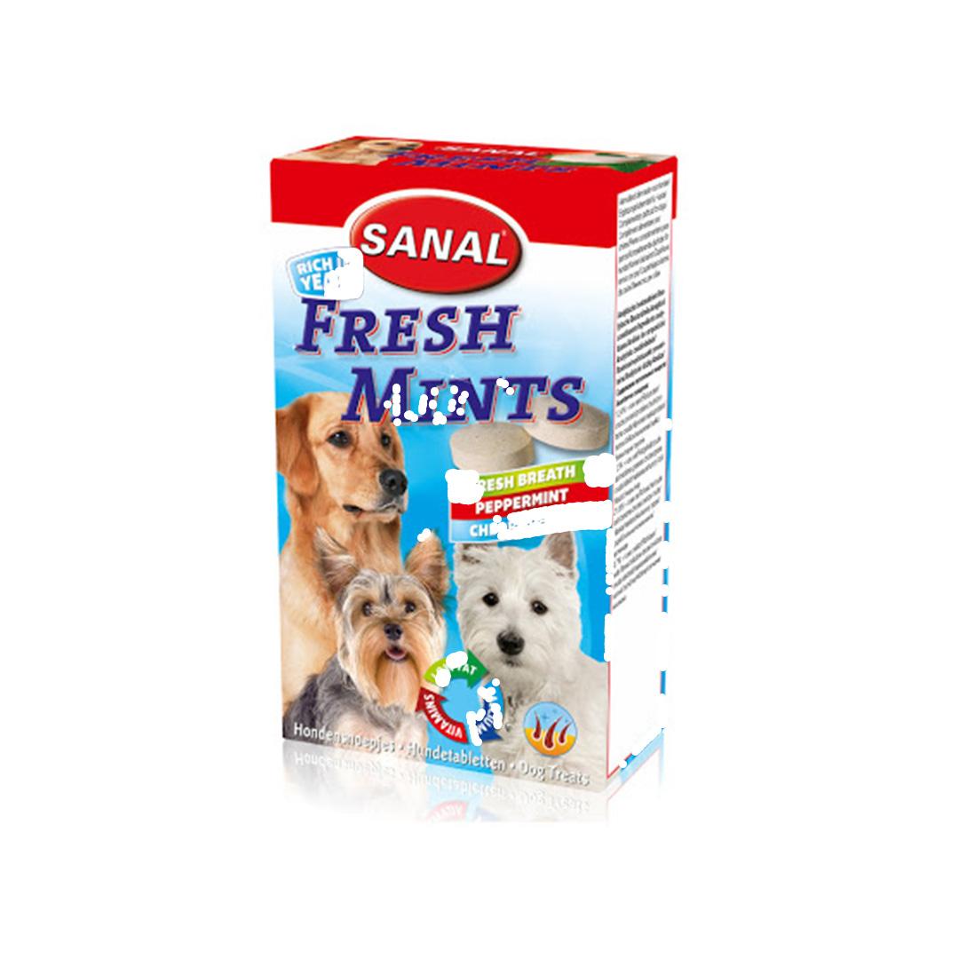 مکمل غذایی سگ به همراه نعنا و چای سبز رزماری و کلروفیل
