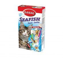 مکمل قرص سانال گربه به همراه ویتامین با طعم ماهی دریایی