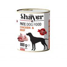 کنسرو پته شایر با طعم مرغ و گوشت قرمز مخصوص سگ 800 گرمی