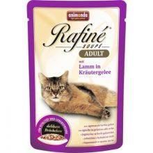 پوچ رافینه گربه بالغ حاوی گوشت بره در ژله سبزیجات(100گرم)