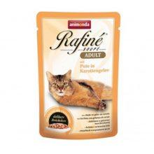 پوچ گربه رافینه حاوی گوشت بوقلمون به همراه ژله هویج-100گرم