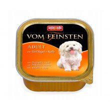 خوراک کاسهای ووم فیستن حاوی گوشت پرندگان و دل بوقلمون مخصوص توله سگ ۱۵۰gr