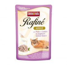سوپ گربه رافینه حاوی گوشت بوقلمون و بره در سس ماست و خامه/ 100 گرمی