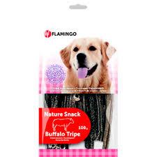 تشویقی سیرابی بوفالو طبیعی 100گرمی سگ فلامینگو