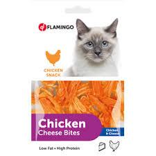 تشویقی گربه نرم تکه ای مرغ و پنیر 85 گرمی فلامینگوتشویقی گربه نرم تکه ای مرغ و پنیر 85 گرمی فلامینگو