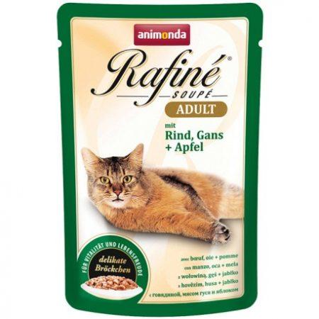 (3 رای) پوچ رافینه حاوی گوشت گاو و غاز و سیب مخصوص گربه بالغ